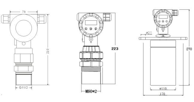 高防護超聲波液位計